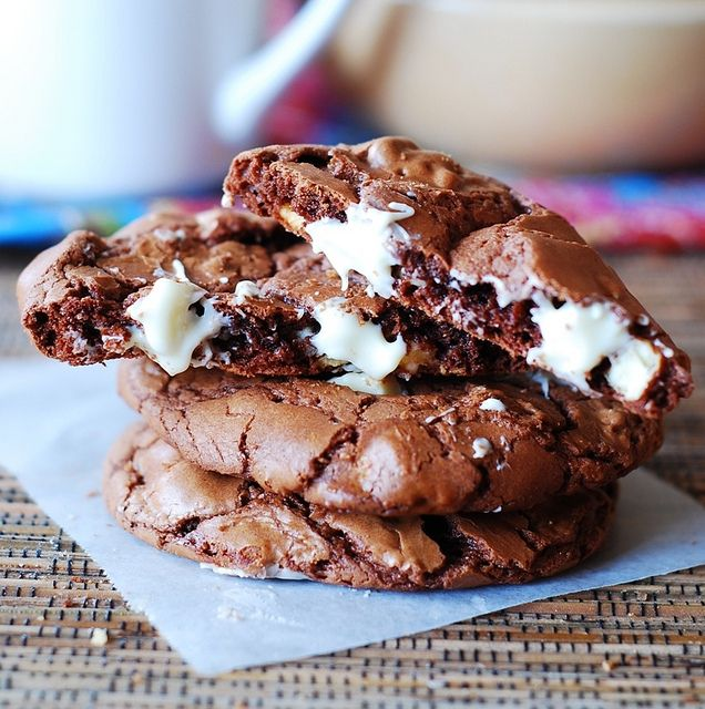 Outrageous chocolate cookies with white chocolate chips by JuliasAlbum ...