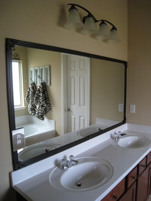 Diy tutorial diy home diy cheap bathroom mirror frame Frames for bathroom wall mirrors