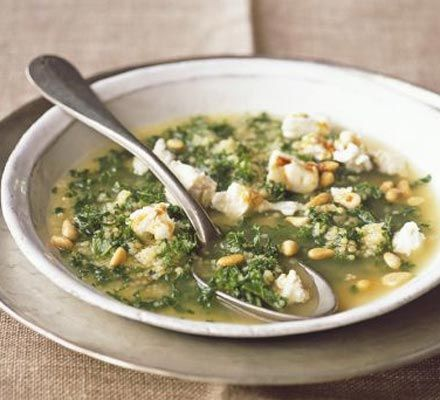 couscous soup with goat's cheese recipe - ready in about 5-10 minutes ...