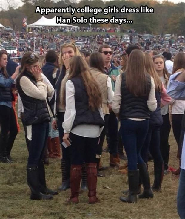 Oh that's funny! College Girls Dress Like This ! funny humour