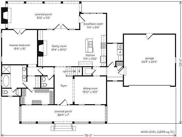 Southern Living Floor Plans Garden Cottage Print Southern Living