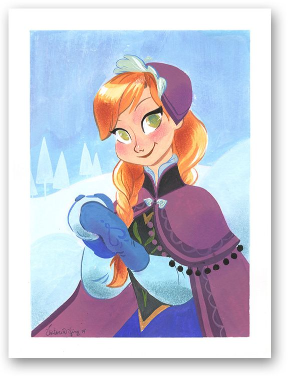 Really cute Anna piece by #VictoriaYing