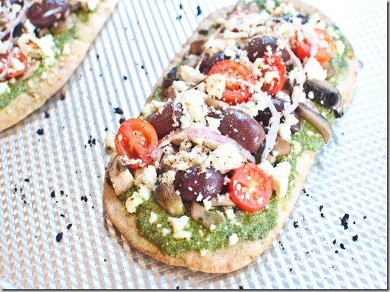 Greek Pita Pizza | recipes | Pinterest