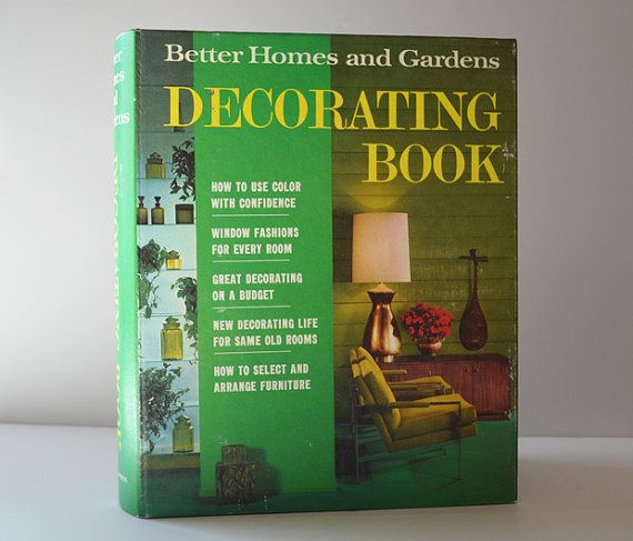 vintage better homes and gardens decorating book1968