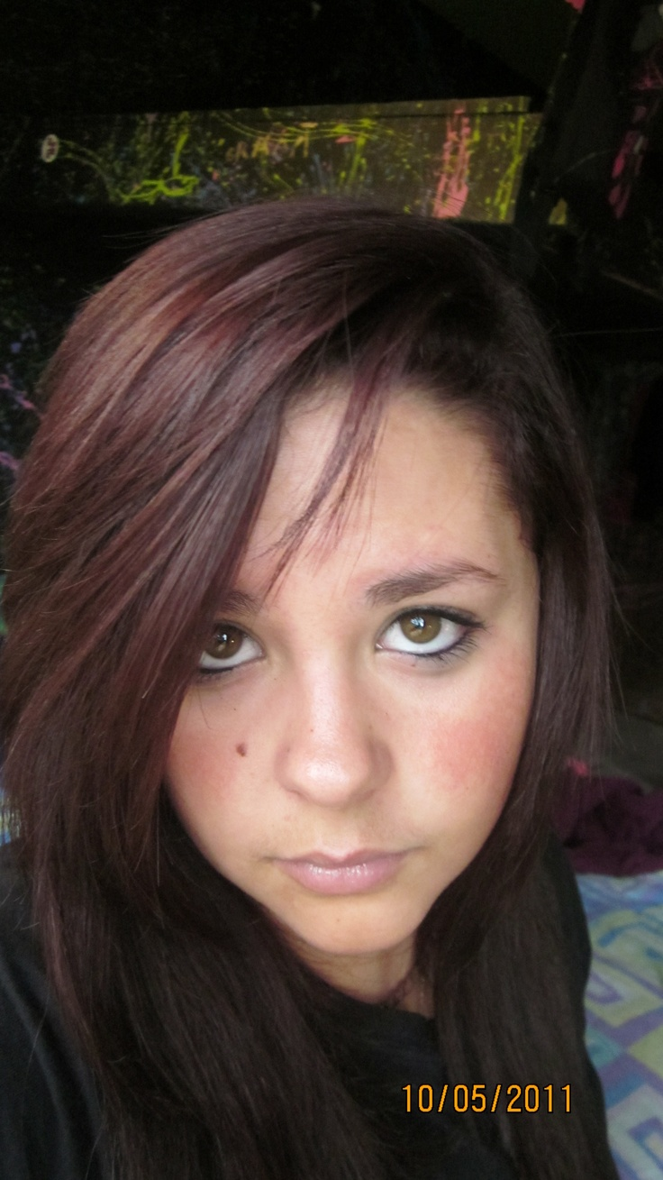 Light Burgundy Hair Color  Dark Brown Hairs