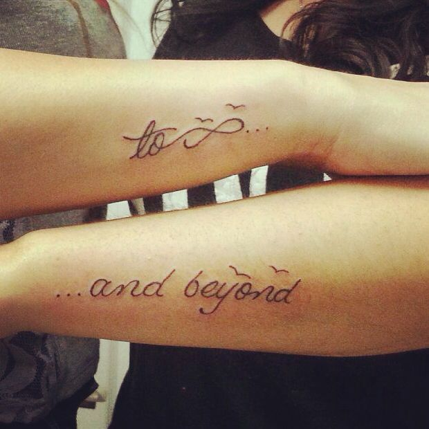 Best friend tattoos  To infinity and beyond Best Friend Infinity And Beyond Tattoos