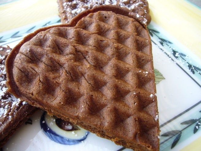 Waffle Brownies...who knew you can make brownies in a waffle iron ...