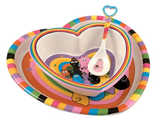 Barbapapa kinderservies hart #Barbapapa #kinderservies #kinderdiner #bordje