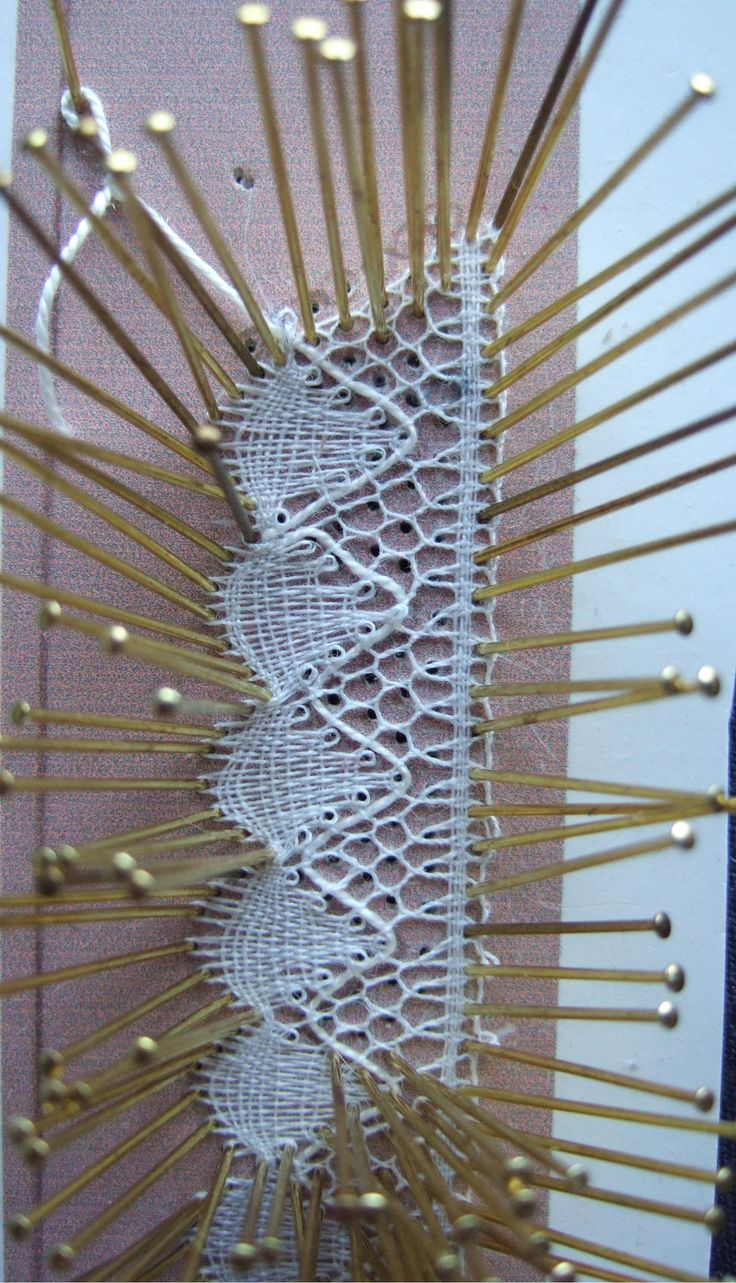 Bobbin Lace in the Making.  Yes there are still hand lacemakers that make lace like this.  Supplies are hard to find.