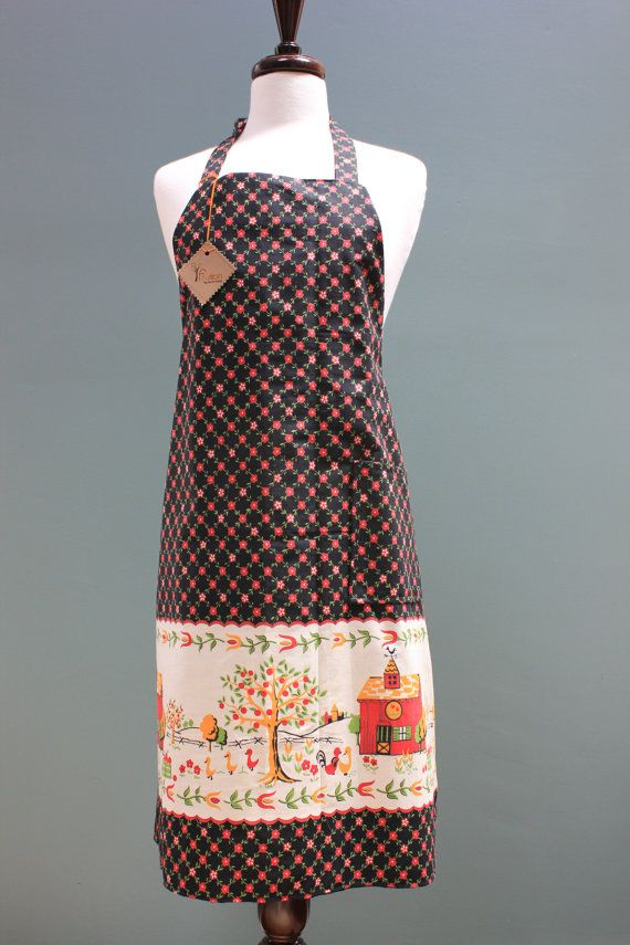 Midcentury Vintage Farmhouse bakers apron by Fruitionbyjennifield, $26 ...