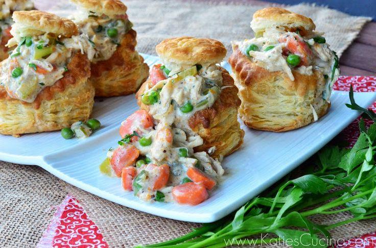 Chicken Pot Pies in Puff Pastry Shells | Katie's Cucina