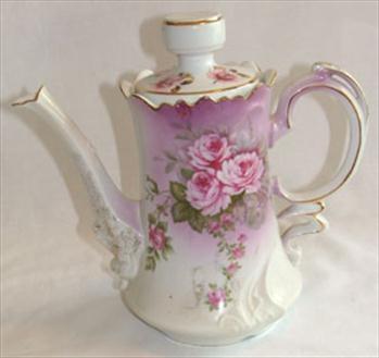 Lefton Rose Pattern Tea Pot