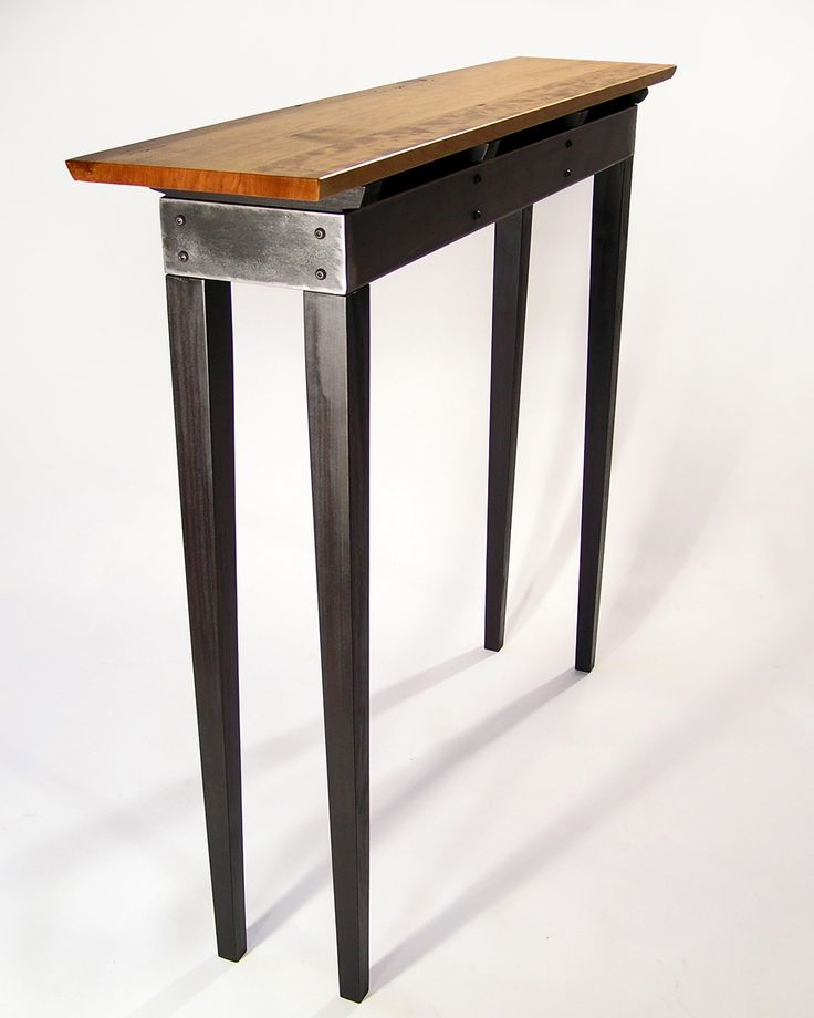 Wood And Metal Furniture Designs : Steel sofa table with wooden top  Furniture  Pinterest