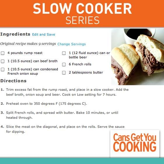 Easy Slow Cooker French Dip | Recipe