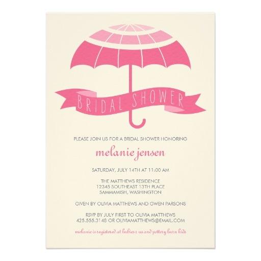 Umbrella Bridal Shower Invitation