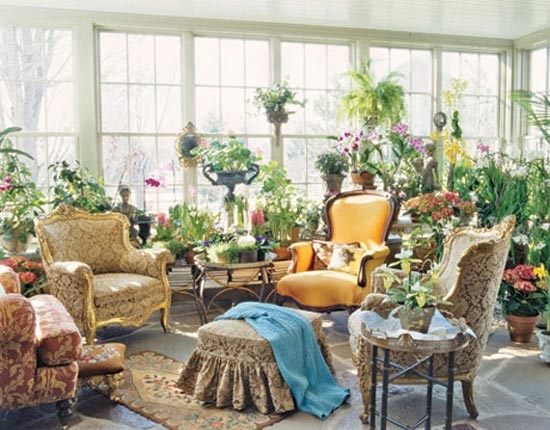 Tea room with indoor garden garden room heaven for Indoor garden design living room
