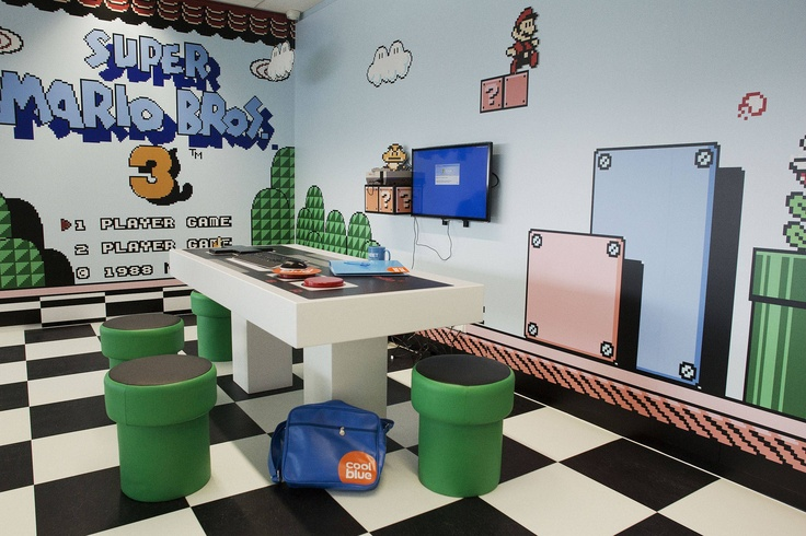 conference rooms at belgian webshop coolblue   #supermariobros