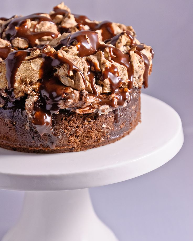 Choc Hazelnut Meringue Cake | how sweet it is | Pinterest