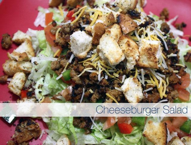 cheeseburger salad | Cooking Inspiration | Pinterest
