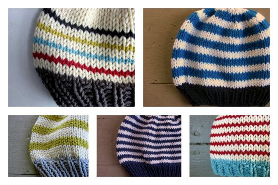 Baby Hat Knitting Pattern, basic beanie, PDF knitted hat ...