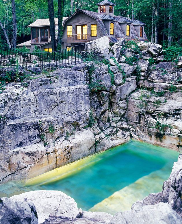 Pictures Of Beautiful Backyard Pools : Is this quarry the most beautiful backyard pool in America? We think