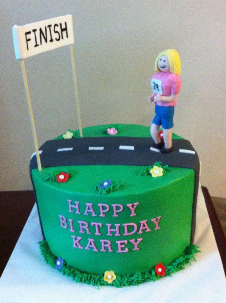 Birthday Cake Pictures For Runners : Runners Birthday cake Future Baker. Pinterest