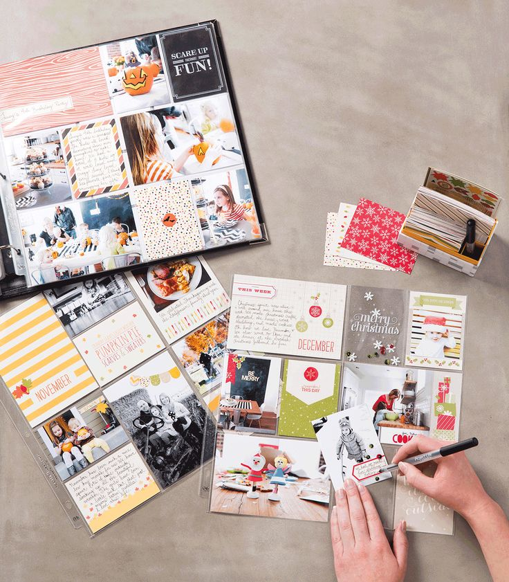 It's easy to stay on top of memory keeping with the Seasonal Snapshot kit from Project Life by Stampin' Up! #PLxSU