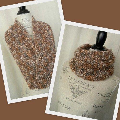 Swirl Infinity Scarf Cowl - Cobblestone - Handmade Ladies Scarf ...