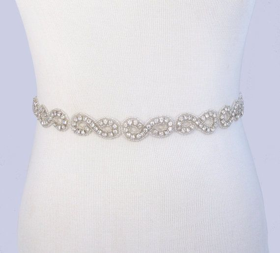 jeweled beaded bridal belt crystal rhinestone wedding