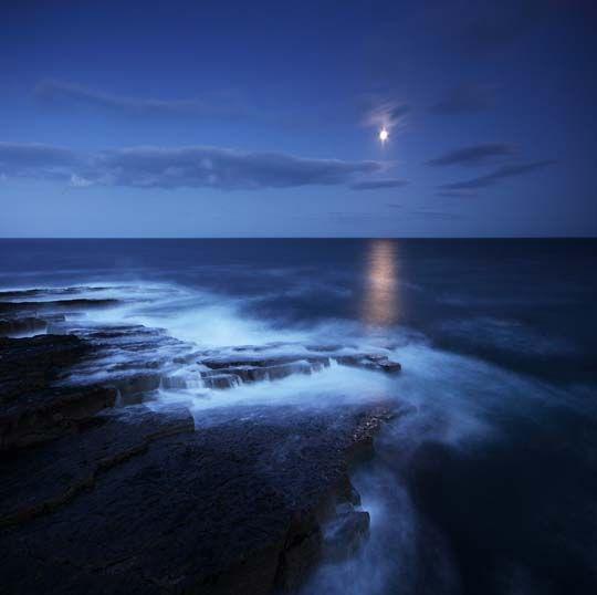 Beautiful night over the ocean