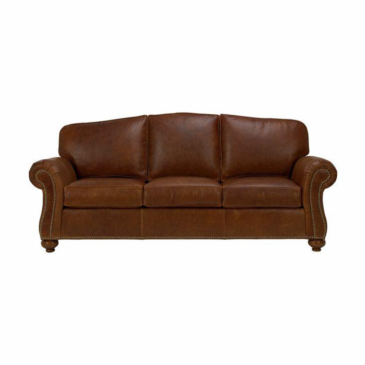 Whitney leather sofa ethan allen us beach living room for Leather sectional sofa ethan allen
