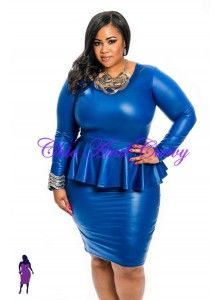 plus size attire navy