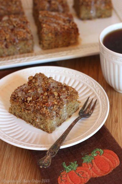 Gluten-Free Pumpkin Swirl Pecan Crumb Cake