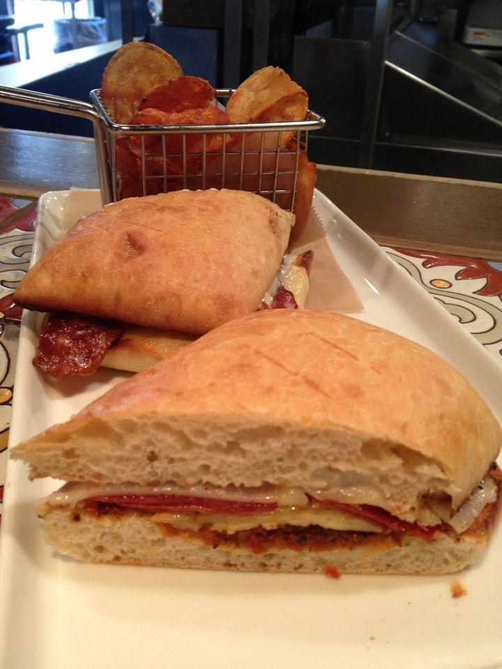 Manchego, Mahon, and Pamplona cheese, bacon, sun dried tomato pesto ...