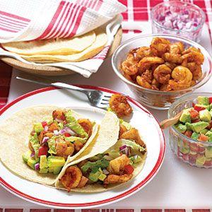 Shrimp-Avocado Tacos | Recipe