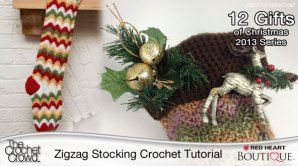 Crochet Tutorial Zigzag : Zigzag Crochet Stocking Tutorial Crochet Pinterest