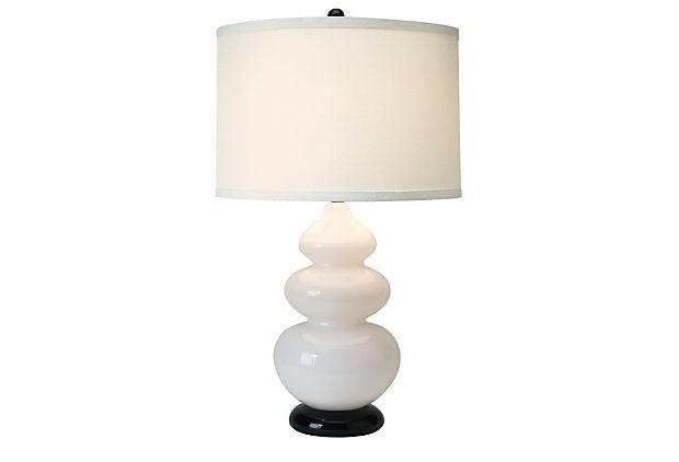 Diva Table Lamp, White on OneKingsLane.com                               I