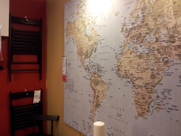 slaapkamer wereldkaart : Wereldkaart in slaapkamer Isis Inspiratie ...