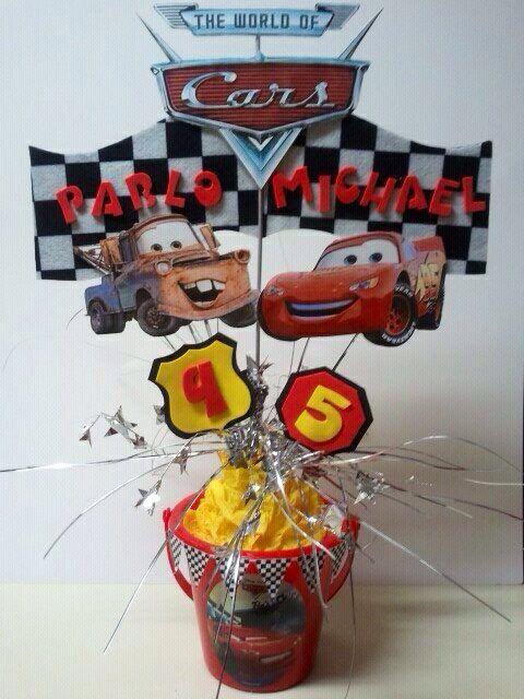 Cars centerpiece party ideas pinterest