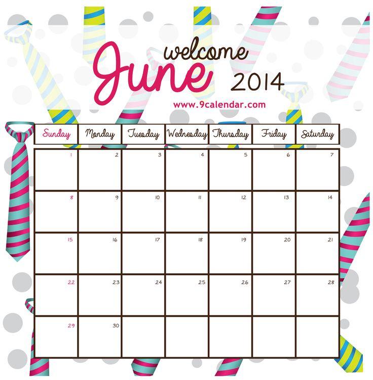 Cute June Calendar 2013 Printable Cute lt b gt June Calendar lt b gt