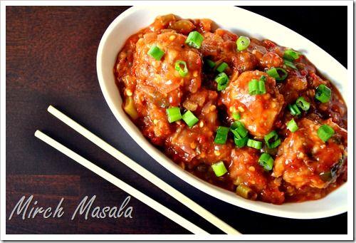 Mirch Masala: Vegetable Balls in Hot Garlic Sauce