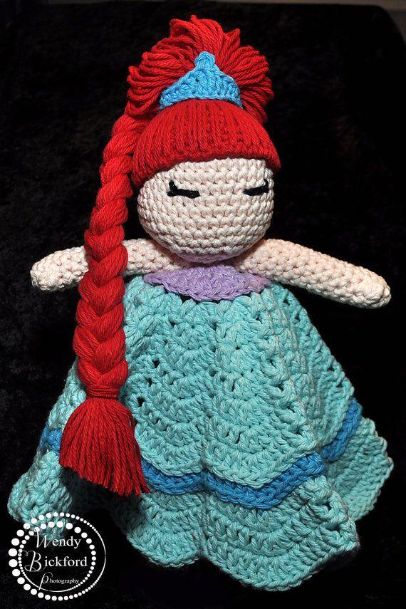 Crochet Lovey : Baby Princess Crocheted Lovey
