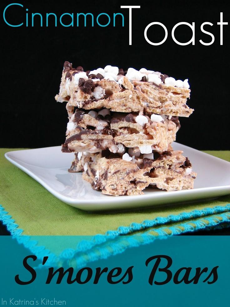 Cinnamon Toast S'mores Bars - DECADENT!