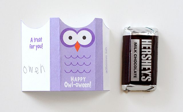 happy owl-oween! halloween favors - by Lisa Storms