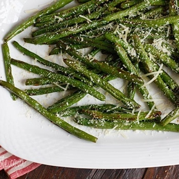 Roasted Parmesan Green Beans | Paleo & Protein Pleasers | Pinterest