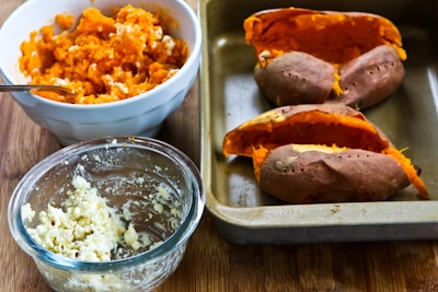Twice-Baked Sweet Potatoes with Feta and Sumac | Recipe