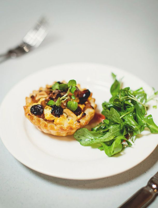 Sweet caramelized onion, feta and dried cranberry tart - A Table for ...