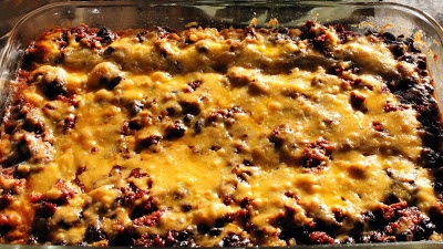 Enchilada Casserole with Black Beans and Brown Rice | Food | Pinterest