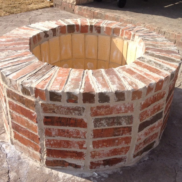 Fire pit future home pinterest for What kind of bricks for fire pit
