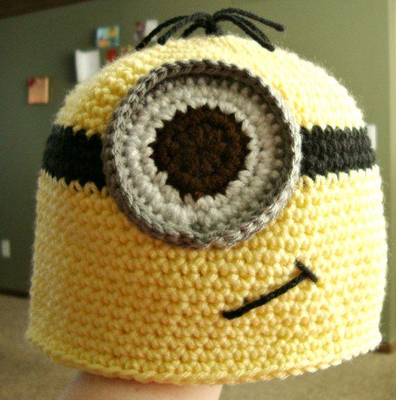 Crochet Minion Beanie Hat Pattern : Pinterest